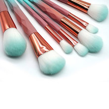 7/10 Pcs Unicorn Diamond Makeup Brushes Set Hijau Macarons Warna Wajah Foundation Kosmetik Riasan Sikat Kit(China)