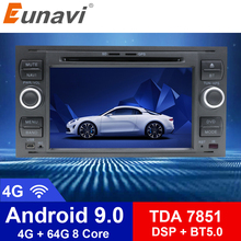 цена на Eunavi 2din Android 9 Car Radio For Ford Focus 2  Mondeo S-max Focus C-MAX Galaxy Fiesta Multimedia Video Player Navigation GPS