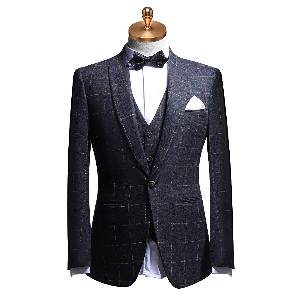 Men Suit 60% Wool Blazer Vest Pant 3pcs Set Thick Suit Mens With Pants Autumn Winter Formal Wedding Groom Wear Plus Size 58 62