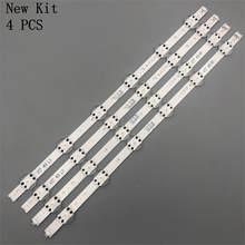 4 pces led backlight strip para lg 49 tv tv tv 6916l-2862a 6916l-2863a v17 49 r1 + l1 art3 449uj651v lc490dgg (fk) (md)