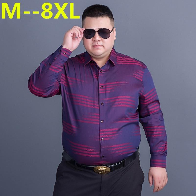 10XL 8XL 6XL 5XL 4XL New  Spring Autumn Cotton Dress Shirts Mens Casual Shirt Casual Men Plus Size Loose Fit Social Shirts