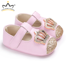 New Baby Shoes Pink Crown Princess Baby