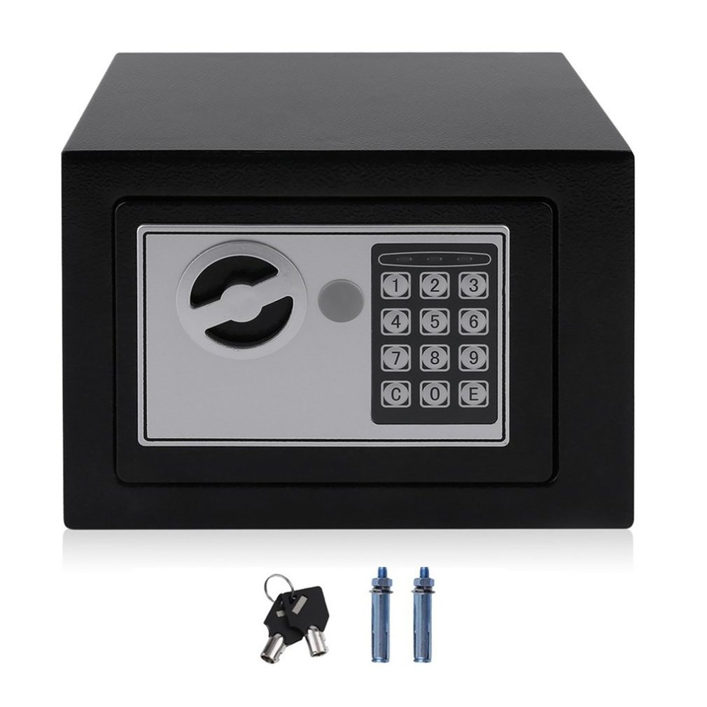 Household 17E Small Safe Mini Wall Safe Deposit Box Bedside Table Password With Lock Insurance Box Gift