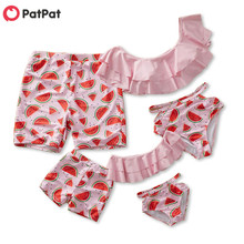 PatPat On Sale In Stock Summer Watermelon Summer Swimsuit for Family Children Clothing
