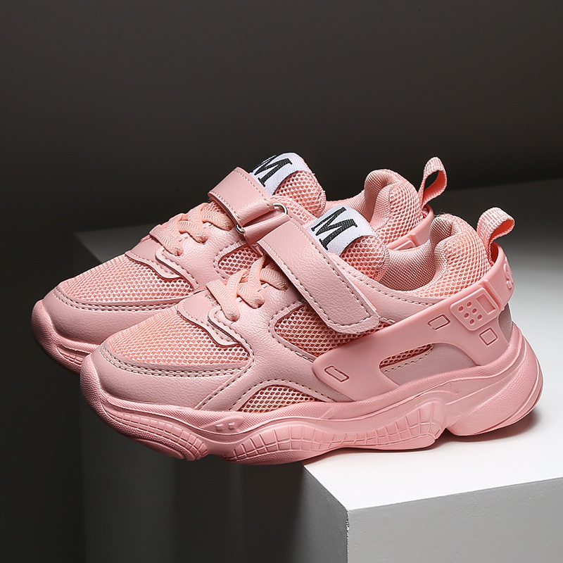 Classic Girls Running Shoes Kids Sneakers Brand Boys Basket Shoes Breathable Mesh Tennis Shoes Anti-slip Children Sport Shoes