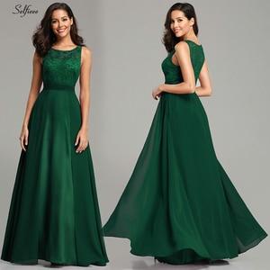 Image 3 - Noworoczne sukienki damskie długie 2020 seksowna linia bez rękawów O neck szyfonowa koronkowa letnia sukienka plażowa eleganckie burgundowe sukienki na przyjęcie