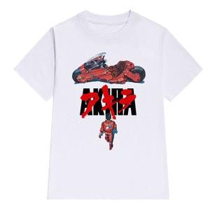 LettBao Akira Synthwave T-Shirt Men Short Sleeve Summer Fashion Tshirt Casual White T Shirt Cotton Fashion Tee Shirt O-Neck Tops(China)