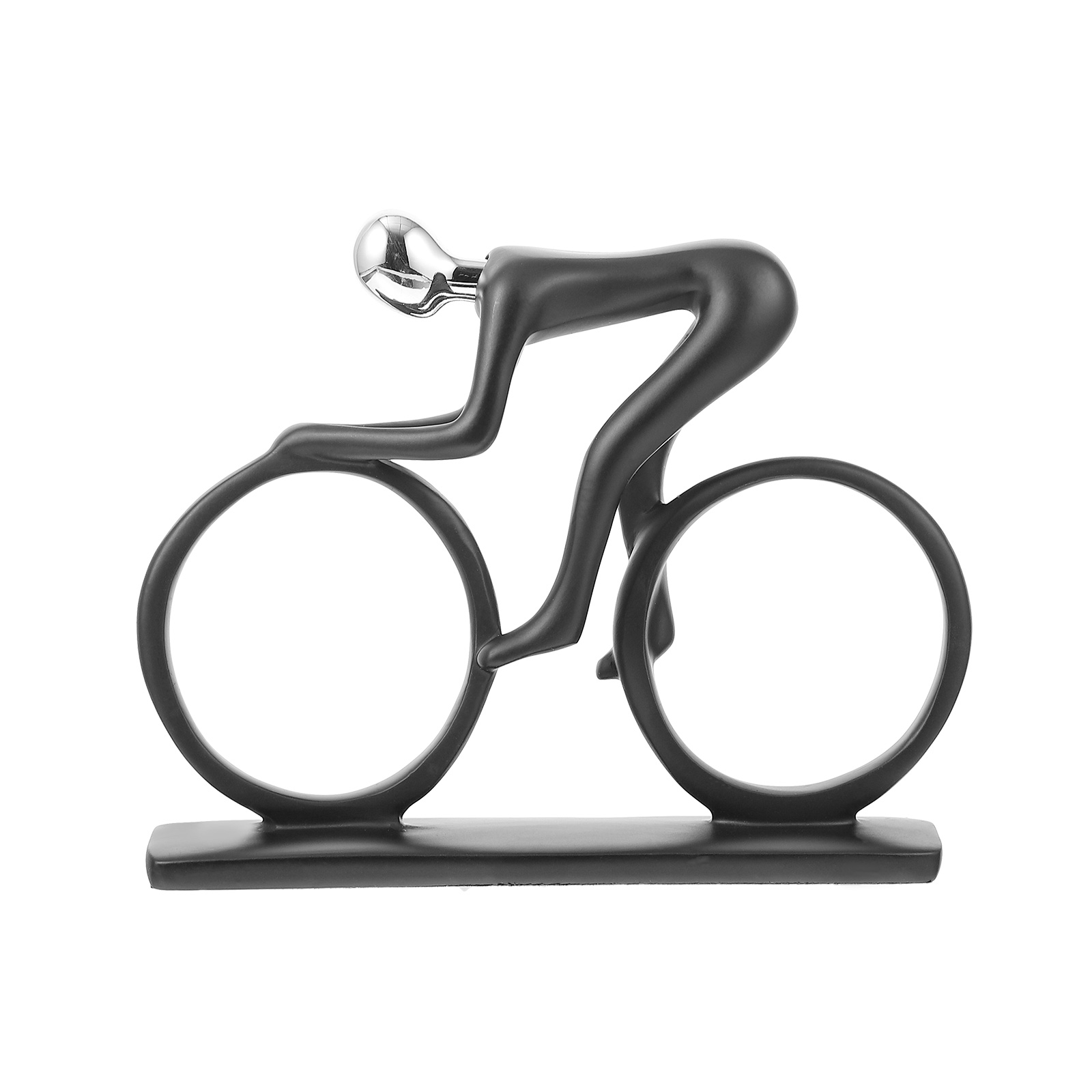 1pc Modern Elegance Resin Bike Ornament Home Decor Decoration Room Decoration Cyclist Statue Resin Bike Sculpture For Room Home Latest Technology