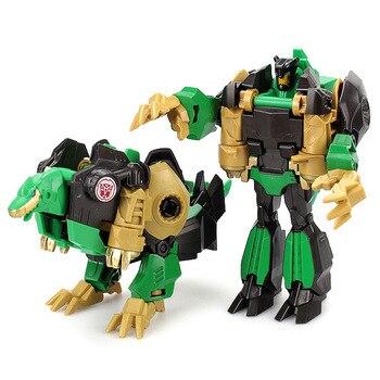 Children 12cm Transformation Robot Kit Toys Models 2 in 1 one Step  Model Deformed Car Toy for Boy Gift 4