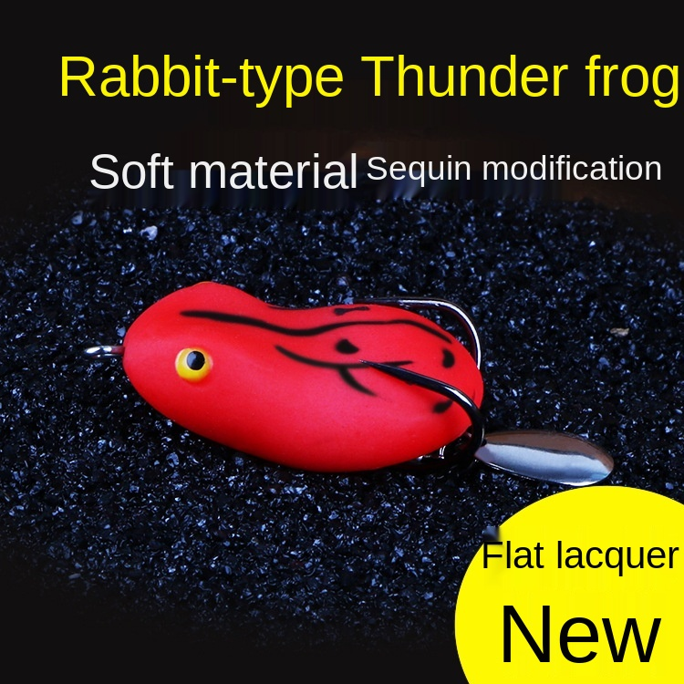 Double Propeller Thunder Frog Fishing Lure 4.5cm/5cm Floating Bionic Soft Lure Carp Fishing Artificial Crankbait Minnow Lure