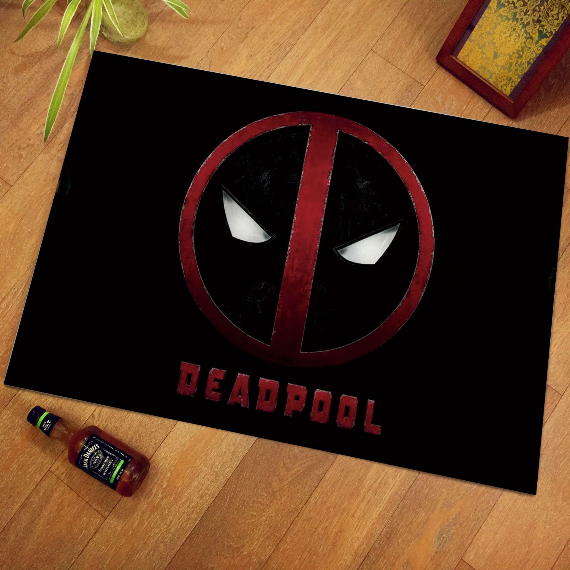 60x40cm Floor Mat Fashion Creative Spiderman The Avengers Printed Footpad Kitchen bathroom mats  Gift Flannel Floor Mat