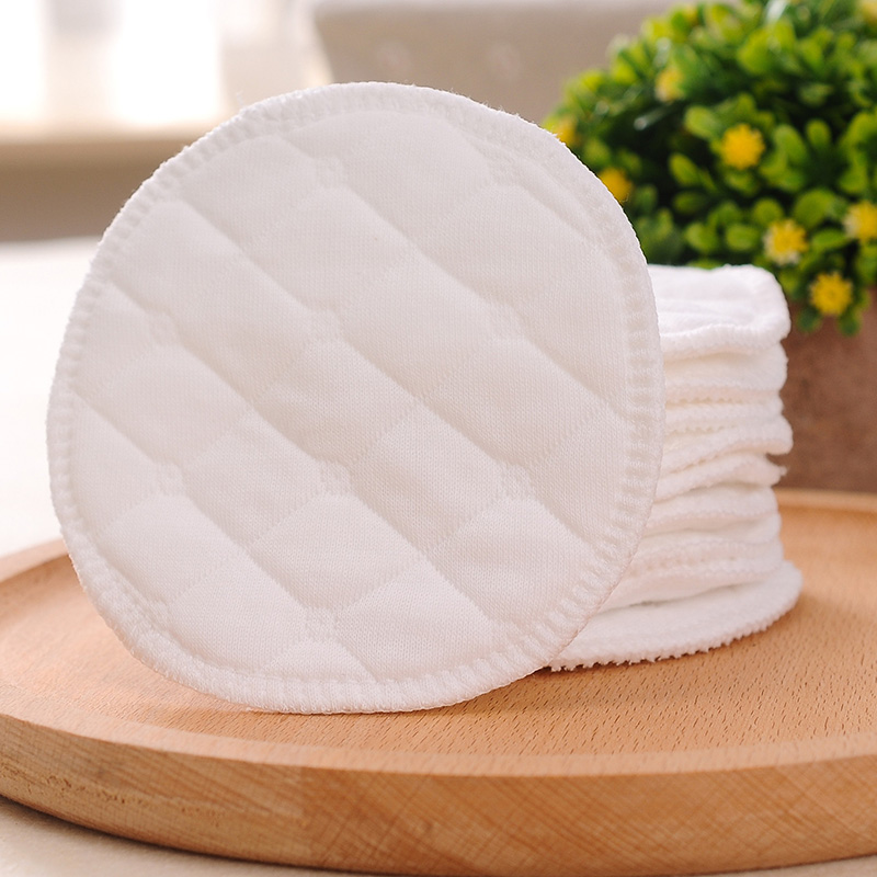 12pc Reusable Nursing Breast Pads Washable Soft Absorbent Baby Breastfeeding Waterproof Breast Pads For Pregnant Women