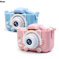 HD 1080P Kids Digital Camera 20MP Children Camera with USB Charger Built-In Game Camera Shockproof Silicone Protection Cover