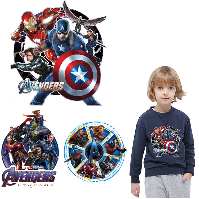 cartoon marvel thermal <font><b>patch</b></font> Superman <font><b>ironman</b></font> iron on transfer <font><b>patches</b></font> for clothes stickers for boy T-shirt <font><b>patch</b></font> applique badge image