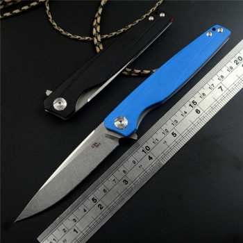 ch 3511 original flipper folding knife154 cm blade ball bearings g10 stainess steel handle camping fruit pocket knives edc tools CH CH3007G10 Drop Point D2 Satin Blade Ball Bearing Flipper G10 Handle Survival Hunting Pocket Folding Knife EDC Tools