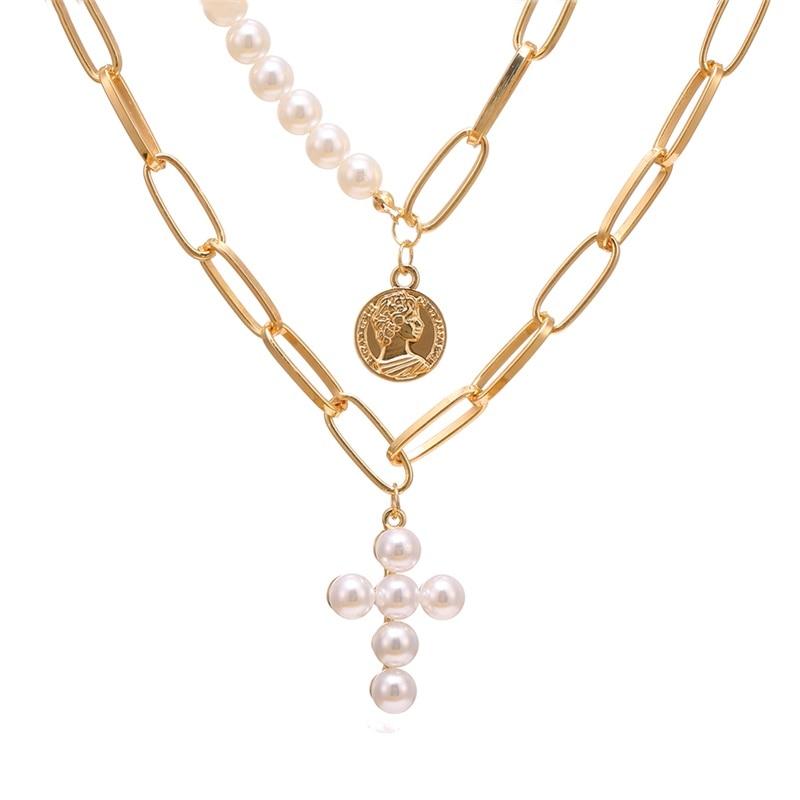 VKME модное жемчужное ожерелье с двойным слоем Love аксессуары Женское Ожерелье Bijoux подарки - Окраска металла: ZL0001111