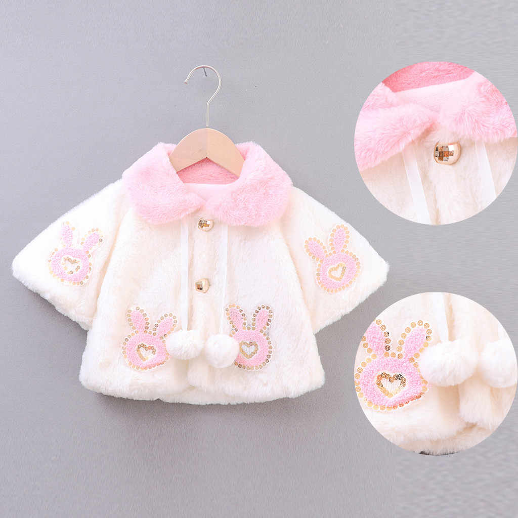 6M-3T Deer Hooded Cloak Cape Robe Coat Winter Warm Faux Fur Outfits XILALU Toddler Baby Girls Boys Christmas Costume