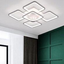 Moderno led lustre para sala de estar decoração lustre teto quarto kitchern luzes brilho ajustável luminárias