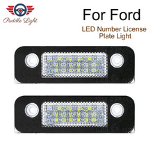 цена на 2Pcs  LED Car License Plate Light White Number Plate Lamps Light SMD For Ford Fusion For Mondeo/MK2 For Fiesta