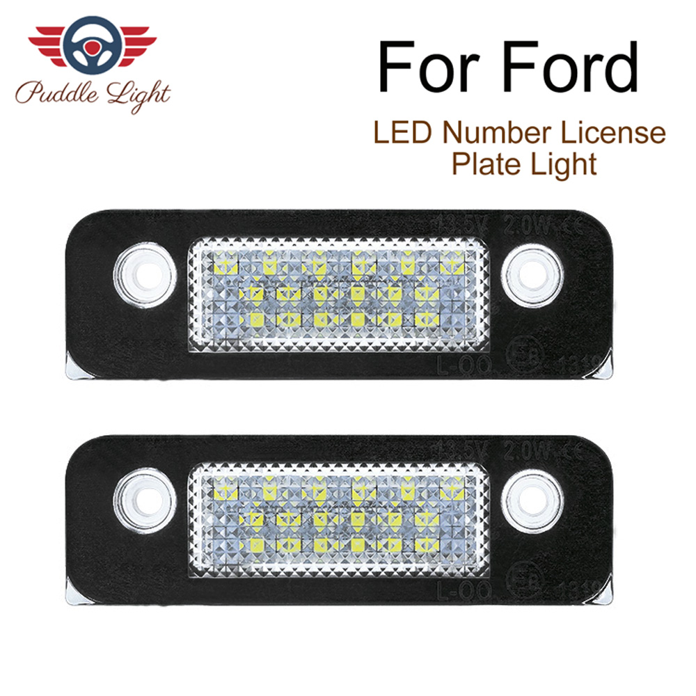 2pcs White License Plate Light Lamps FIT For <font><b>Ford</b></font> <font><b>Fusion</b></font> Fiesta Mondeo (Fits: <font><b>Ford</b></font> Fiesta) image