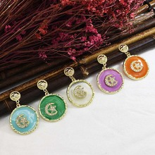 Star Moon Earrings New Fashion 5 Color Gold Alloy Rhinestone Cute Earrings Female Glamorous Jewelry Accessories.