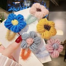 Hair Clip Women 's New Plush Flower BB Hairpin Chopped Bangs Headdress Girl Side
