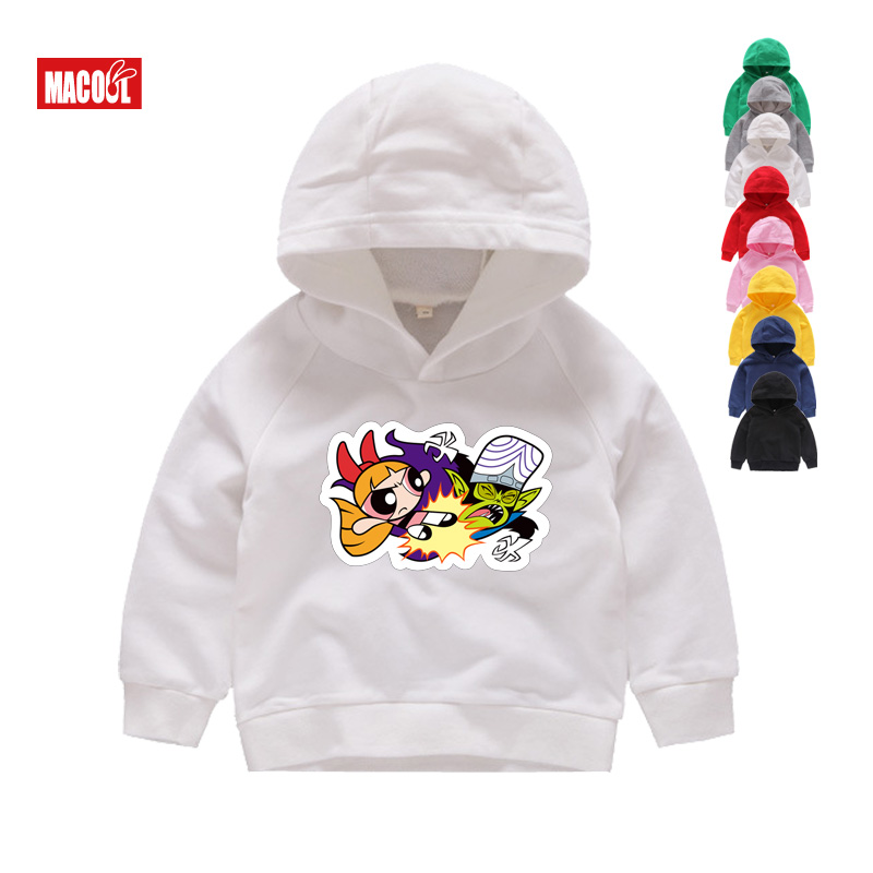 Spring Children Boys White Sweatshirts Kids Pure Color Hoodies Cotton Girl Pullover Tops Single Layer Outerwear Clothes 1 15 Yrs in Hoodies Sweatshirts from Mother Kids