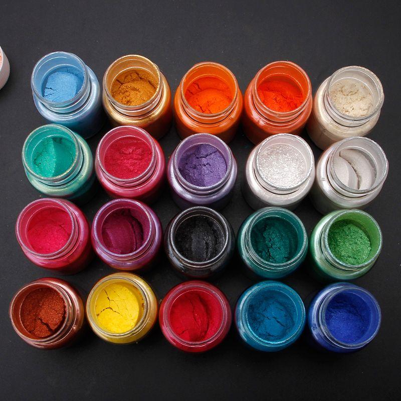 20 Colors Mica Powder Epoxy Resin Dye Pearl Pigment Natural Mica Mineral Powder 6