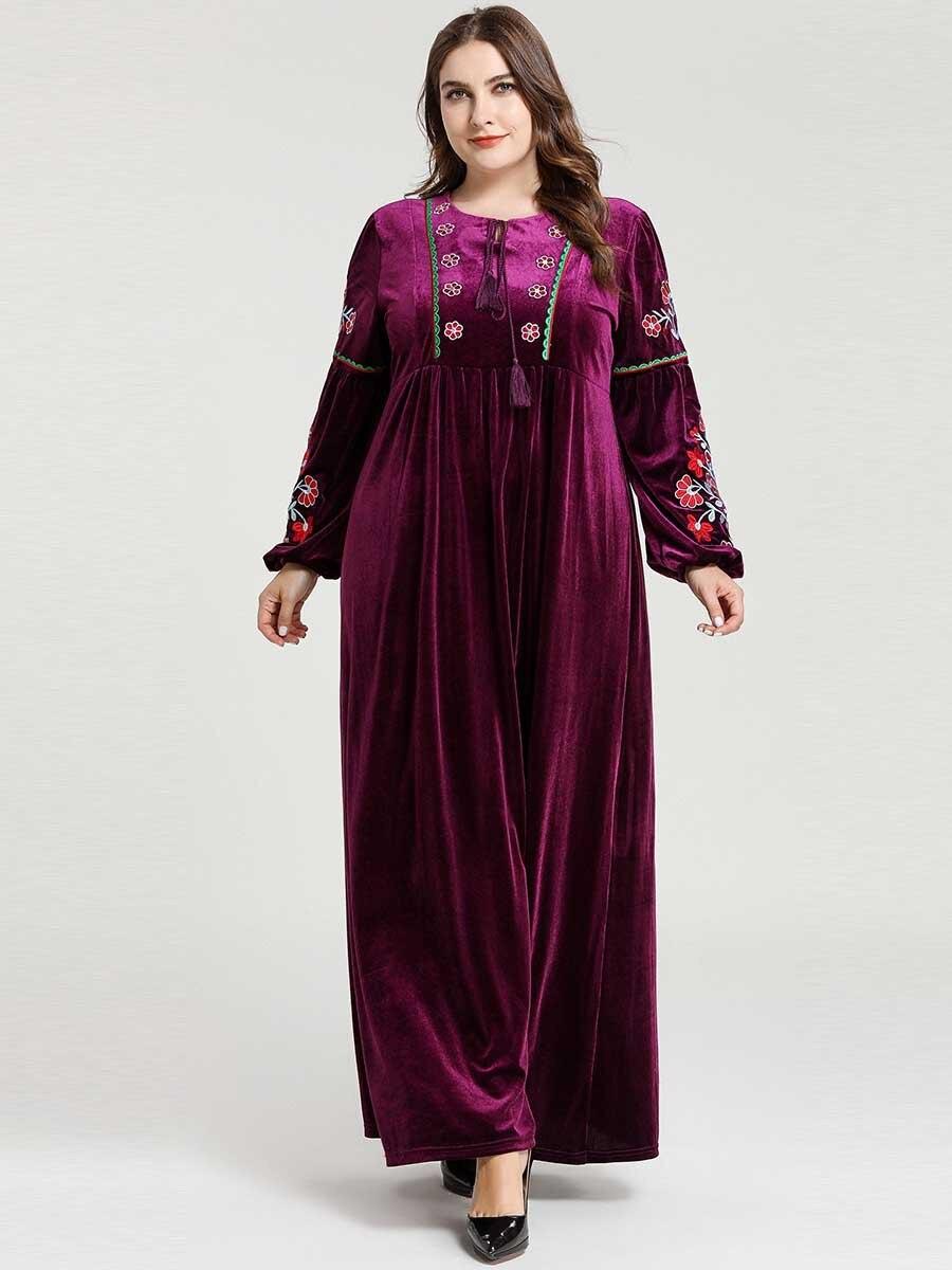 Velvet Abaya Dubai Hijab Muslim Dress Kaftan Islamic Abayas Tesettur Elbise Turkish Dresses Caftan Marocain Robe Musulmanes