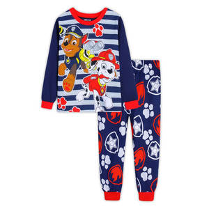 Pajamas Patrulla Children Thin-Section Cotton Cartoon Long-Sleeved for Two-Piece Canina