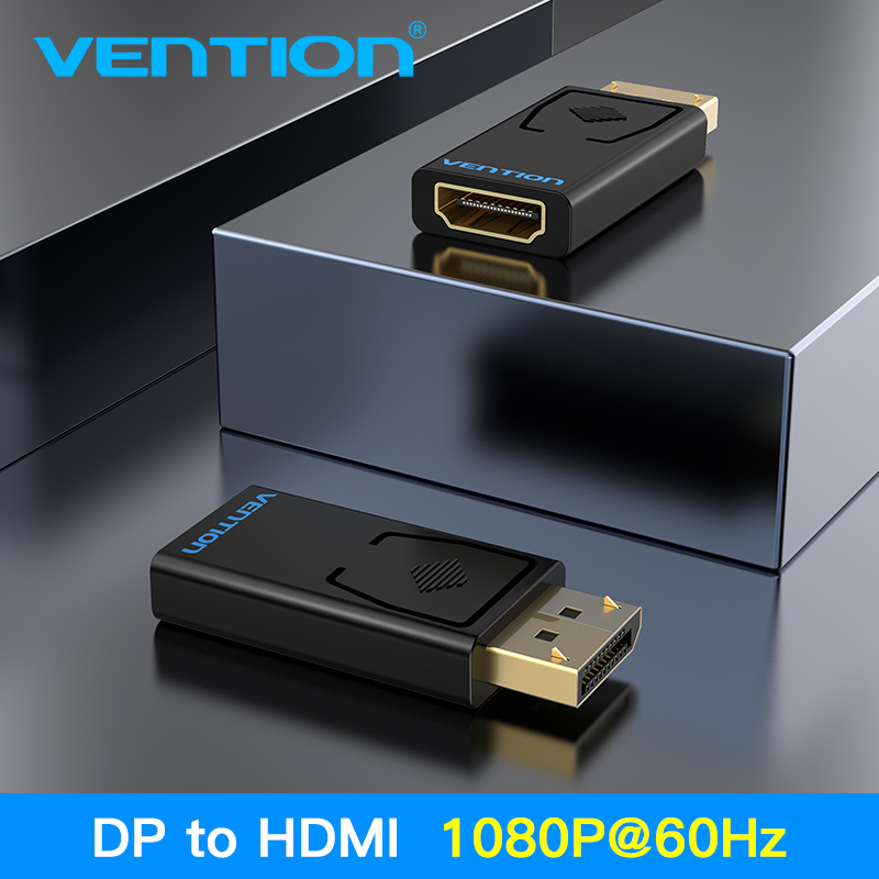 Vention DP To HDMI Adapter 1080P Display Port Male To HDMI Female Converter For  PC Laptop Projector DisplayPort To HDMI Adapter