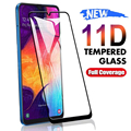 Защитное стекло 11D для Samsung Galaxy A01, A11, A21, A31, A41, A51, A71, M21, M31, M51, A10, A20E, A30, A50, закаленное стекло