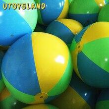 UTOYSLAND горячий 75 см надувной пляжный шар воды Спрей бассейн вечерние летние пляжные игрушки для плавания-желтый+ синий+ зеленый