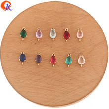 Cordial Design 50Pcs 6*13MM Jewelry Accessories/Crystal Connectors/Drop Shape/Hand Made/Earring Findings/DIY Jewelry Making