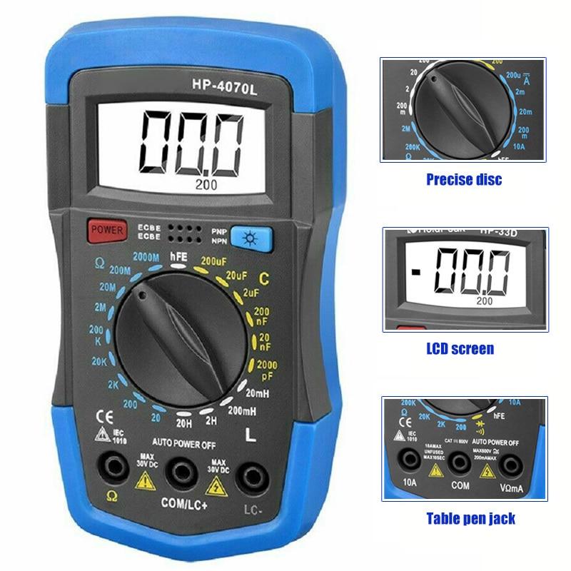 RLC Meter Inductance Capacitance Resistance Multimeter Ohm Inductor Tester Digital Insulation Tester Mete JA55