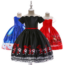 New Year 2020 Girls Dress Christmas Kids Snowflake Dresses For Princess Baby Xmas Costume Clothes