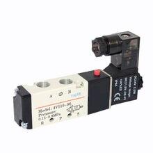 Пневматический электромагнитный клапан 4V110-06, 4V120-06, 1/8 дюйма, 2-позиционный 5-позиционный, ac220в, ac110в, dc24в, DC12V