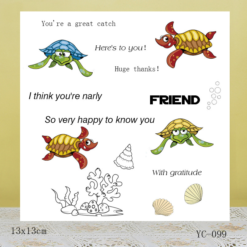 AZSG Colorful underwater world Clear Stamps For DIY Scrapbooking/Card Making/Album Decorative Rubber Stamp Crafts