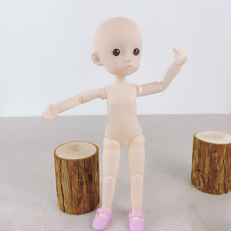 Nouveau 26cm BJD poupée corps nu et tête bricolage jouets Bjd poupée bricolage pratique maquillage sans tête de maquillage pour les filles jouet