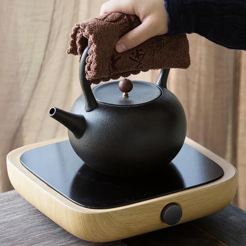 Household Hot Microfiber Printing Absorbent Tea Cloth Custom Thickening Absorbent Tea Towel Kung Fu Tea Accessories