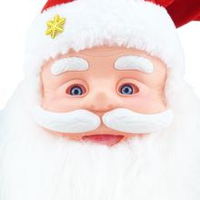 Harmless Christmas Santa Claus Head Talking Singing Electronic Toy Xmas Doll Kids Gift christmas decorations for home