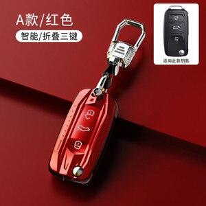 Image 5 - Funda para llave de coche, para Volkswagen VW Golf 3 4 5 6 mk4 mk6 Passat b5 b6 b7 b8 cc Polo Tiguan mk2 Touran Jetta 6 Bora mk6