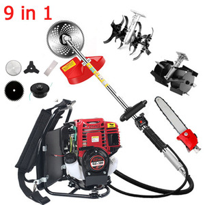 Image 1 - 9 in 1 New High Quality Backpack Brush Cutter Grass Cutter with GX35 4 stroke 35cc Petrol Engine Tree cutter Mini Tiller
