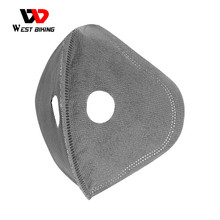 WEST BIKING Filter and Breathing Valves for Cycling Mask Replacement Activated Carbon PM2.5 Anti-Pollution Protection Face Mask