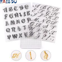 Diyアルファベットクッキーカッターエンボススタンプ付箋装飾フォンダンsugarcraftカッターツール