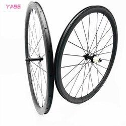Bezdętkowe 38x25mm drogowe koła rowerowe powerway R13 rowerowe koła węgla 700c filar 1420 koła roues velo route 700c carbone Koła roweru    -