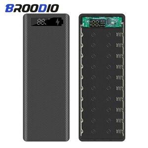 Чехол 10*18650 для внешнего аккумулятора, двойной USB с цифровым дисплеем, мобильный телефон, зарядное устройство, корпус DIY, держатель батареи ...