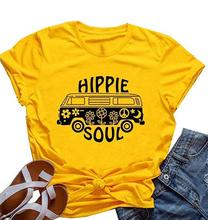 Hippie Soul t shirt grunge tumblr street style aesthetic funny 90s top