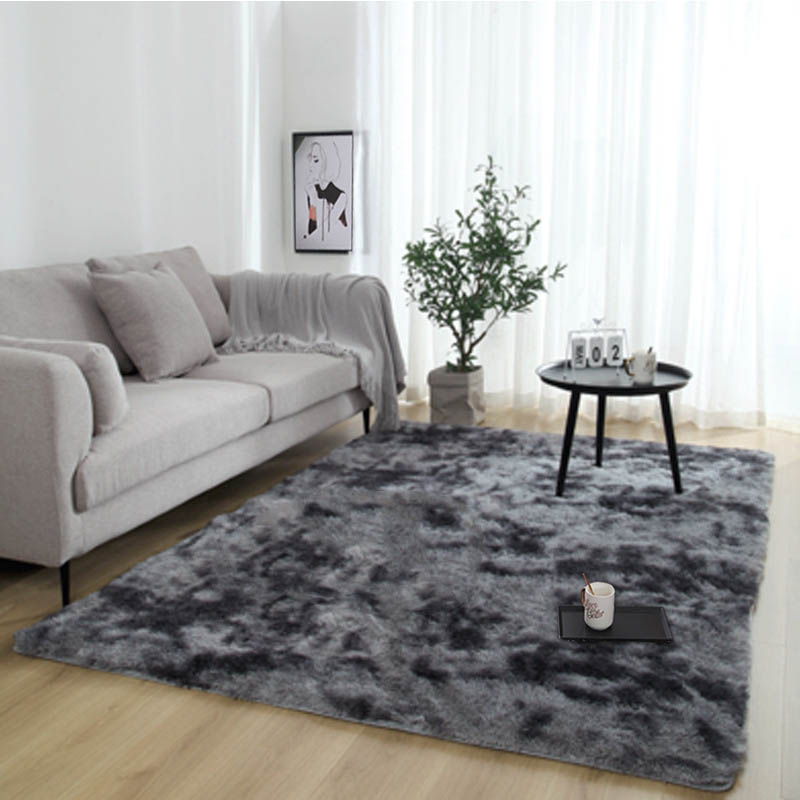 Shaggy Tie Dyeing Carpet For Living Room Home Warm Plush Floor Rugs Fluffy Mats Kids Room Faux Fur Area Rug Bedroom Silky Mats