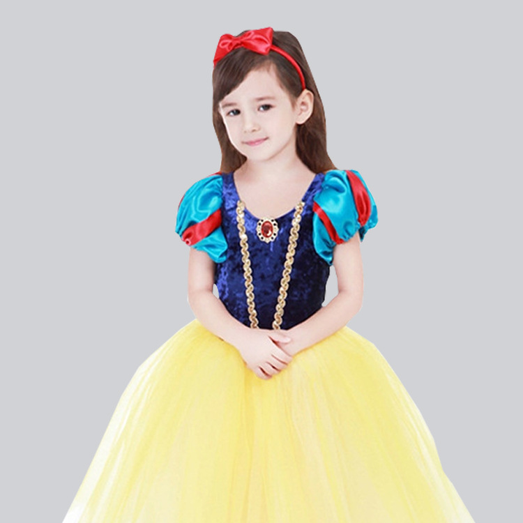 Children Snow White <font><b>Dress</b></font> Girl Christmas Halloween <font><b>Dress</b></font> Performance Costume Kid <font><b>Baby</b></font> Gift Party Clothes <font><b>Fancy</b></font> Teenager Clothing image